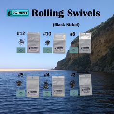 Swimerz Rolling Swivels are a heavy duty, low visibility, product intended for salt water applications. Coated in black nickel for improved corrosion resistance.