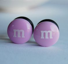 00g (10mm) Chocolate candy plugs for stretched ears.limited edition. $20.00, via Etsy.