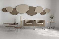 Satellite acoustic panel design system with noise reduction by STUA