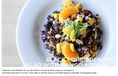 10 Foods to Try by Whole Foods // Black Forbidden Rice Salad with Mango & Peanuts