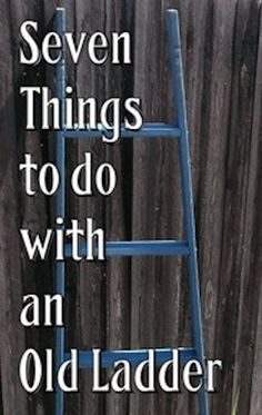 Great ideas on how to use those awesome old wooden ladders!