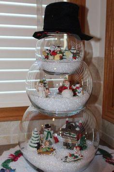 Fishbowl Snowman <3 So Darned Cute