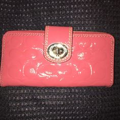 Patten leather wallet Pink signature Coach Bags Wallets