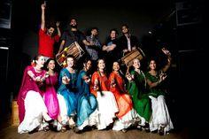 Bollywood shirt, matching dupatta, white sharara