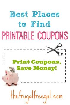 Best Places to Find Online Printable #Coupons - #save #thefrugalfreegal Ways To Save Money, Money Tips, Money Saving Tips, Save Save, Coupon Queen, Grocery Coupons, Extreme Couponing, Budgeting Finances, Shopping Tips