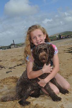 Beach days with my labradoodle by lisadurkin