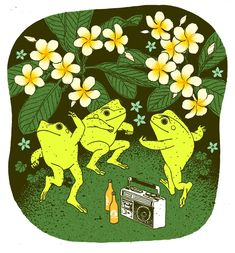 Pretty Art, Cute Art, Arte Indie, Frog Art, Cute Frogs, Hippie Art, Aesthetic Art, Collage Art, Photo Wall Collage