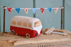 **Custom orders will now have a 2-3 week delay due to the festive period. Please message me before ordering** 'Surf Bus Customized miniature camper van scene made from Cornish driftwood and reclaimed materials. Featuring a VW Camper van in your choice of colour. Either in the Wooden Projects, Woodworking Projects Diy, Wooden Crafts, Diy Projects, Small Wooden House, Rustic Frames, Driftwood Crafts, House Ornaments, Art N Craft