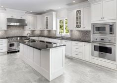 Our Pico series is designed to provide the unmistakable look of marble for an exceptional price. Pico glazed ceramic floor and wall tile fea. Marble Floor Kitchen, Ivory Kitchen, Kitchen Tiles, Kitchen Countertops, New Kitchen, Kitchen Decor, Kitchen With Grey Floor, Modern Kitchen Design, Interior Design Kitchen