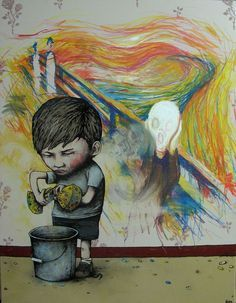 "French street artist Dran uses his art to comment on issues concerning contemporary society. Being donned ""the French Banksy"" by some, his approach to street art is similar to the English graffiti artist in tone and message. Dran utilizes his dark sense of humor to criticize modern culture, often tackling topics concerning art, creativity, and …"
