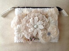 Small Altered Canvas Zip Bag
