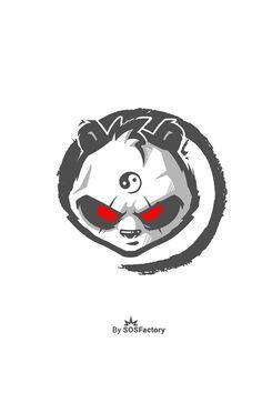 Panda Trash mascot logo design