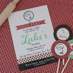 Pizza Party Invitations  Printable Party by TinyTiaraPartyShop, $15.50