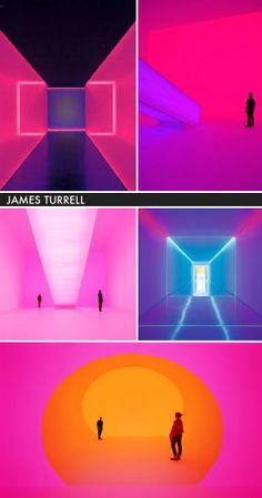 Light installations of James Turrell