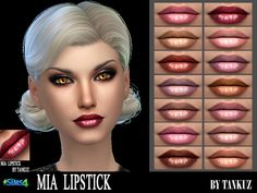 Sims 4 CC's - The Best: Lipstick by Tankuz