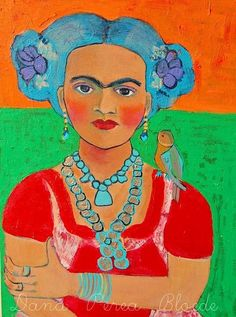 Frida with Bird..love...