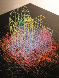 telephone wire art