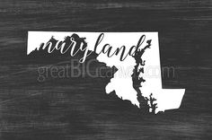 Zoom: Home State Typography - Maryland | Great Big Canvas