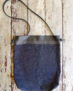 Image of wabi sabi over-dyed denim leather black band