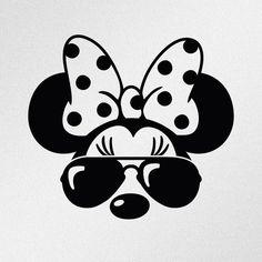 Cricut Craft Room, Cricut Vinyl, Vinyl Decals, Disney Crafts, Disney Art, Disney Fonts, Minnie Mouse Stickers, Mickey Mouse Silhouette, Disney Silhouette Art