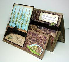Playing with Paper: Tent fold card for fall