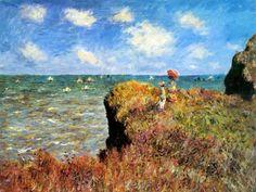 #Monet  La promenade sur la falaise