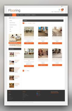 Flooring Responsive Shopify Theme E-commerce Templates, Shopify Themes, Design & Photography, Design, Interior & Furniture Templates, Flooring Templates