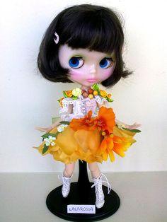 Blythe dress, Fairy Flowers, clothes Blythe, Blythe clothes, handmade