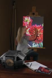 Light Projector Art found in a Google Search. Make painting more enjoyable by projecting your ideas directly onto the canvas!  Project used is the Prism, found at http://www.artograph.com/products/projector_prism.htm