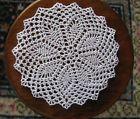 "Ludwina Akbulut, IGMA artisan - crocheted 3/16"" diameter small table topper, using fine Gütermann silk sewing thread. bought on ebay in 2013"