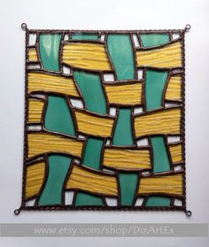 Abstract mini-vitrage. Stained Glass. Ornament. by DizArtEx
