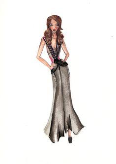 Fashion illustration - pap Melissa Cruz