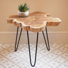 Wood Slice Coffee Table #sidetable #rusticfurniture