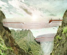 Arturo Tedeschi Cloud-Like Bridge created With an Algorithm