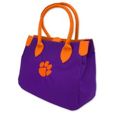 #Clemson #Tigers #Paw #Ariel #Handbag #Purse