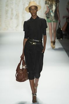 Rachel Zoe Spring 2013 - Black dress in Safari style but more fluid. I like it for everyday.