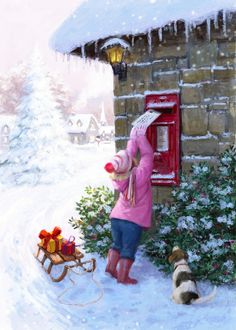 Leading Illustration & Publishing Agency based in London, New York & Marbella. Christmas Scenery, Christmas Artwork, Christmas Paintings, Christmas Pictures, All Things Christmas, Winter Christmas, Christmas Time, Vintage Christmas, Christmas Cards
