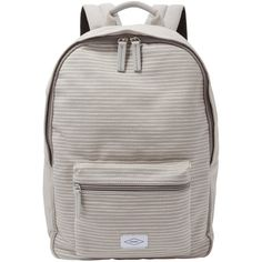 Fossil Ella Canvas Backpack (675 ZAR) ❤ liked on Polyvore featuring bags, backpacks, grey, fossil backpack, pocket backpack, zip bag, canvas rucksack and print canvas backpack