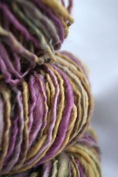 Handspun Hand Dyed Yarn by lollyarn