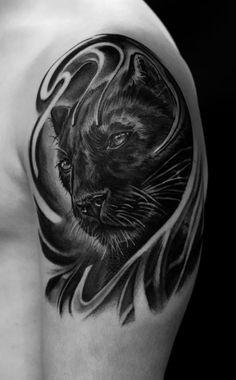 panther by tattooneos.deviantart.com on @deviantART