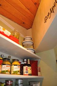 Once Upon a Cedar House: How to Install Pantry Shelves Cedar Homes, L Shaped Pantry, Shelves, Diy Projects, House, Building, Shelving, Home, Buildings