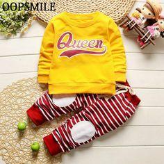 >> Click to Buy << Baby Boy Clothing Sets Cartoon Autumn Spring Infant Cute Clothes Set Long Sleeve T-shirt+Stripes Pants 2Pcs Newborn 1st birthday #Affiliate