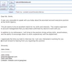Job Search Email Message Examples