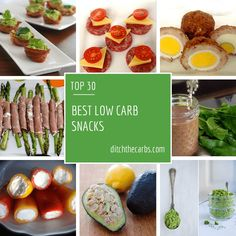 Best Low Carb Snacks via @ditchthecarbs