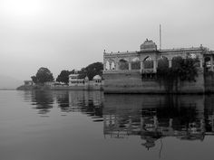 Lake Pichola Pavilion  A pavilion in Lake Pichola in traditional regional style.    Copyright Tammy Winand  Available as a print on request.