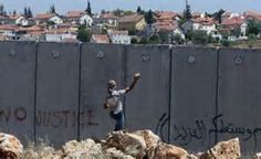 The wall that separates Jew from Palestinian on the West Bank.