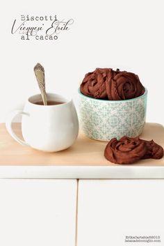 La tana del coniglio: Biscotti Viennesi Etoile al cacao