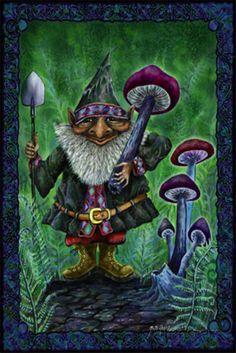 Gnome Mushroom Harvest Poster bij AllPosters.nl