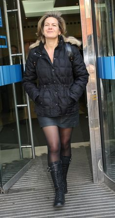 Penny Smith Celebrities outside the ITV television studios. Black Celebrities, Celebs, Penny Smith, Talulah Riley, Penny Lancaster, Celebrity Boots, Gal Gabot, Rochelle Humes, Pantyhose Outfits