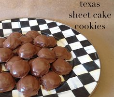 take a bite: Texas Sheet Cake Cookies (from LeighAnne: this is one of my favorite cakes ~ I can't WAIT to try out these cookies!!!)